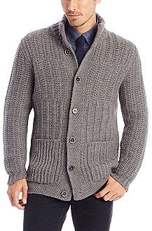3ee0dc37 Hugo Boss 'T-Dancel' | Virgin Wool and Alpaca Knit Cardigan, Grey ...