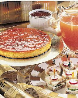 Spicy Cheddar Cheesecake with Apricot Glaze different I would try this. Family first.  akt