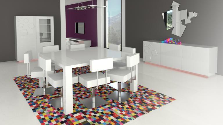 Table De Salle à Manger Carrée Extensible X Cm Veliki - Table a manger extensible blanc laque pour idees de deco de cuisine
