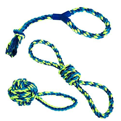Franklin Pet Supply Dog Rope Toy 3 Pack Of Puppy Rope Toys For
