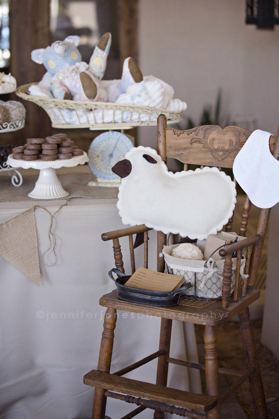Vintage Lamb Themed Neutral Baby Shower 187 Jennifer Jones