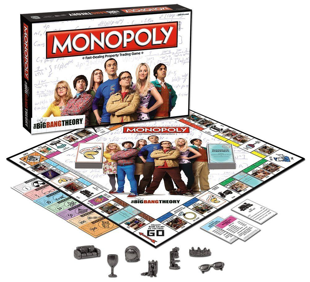 amazon com the big bang theory monopoly toys u0026 games games i