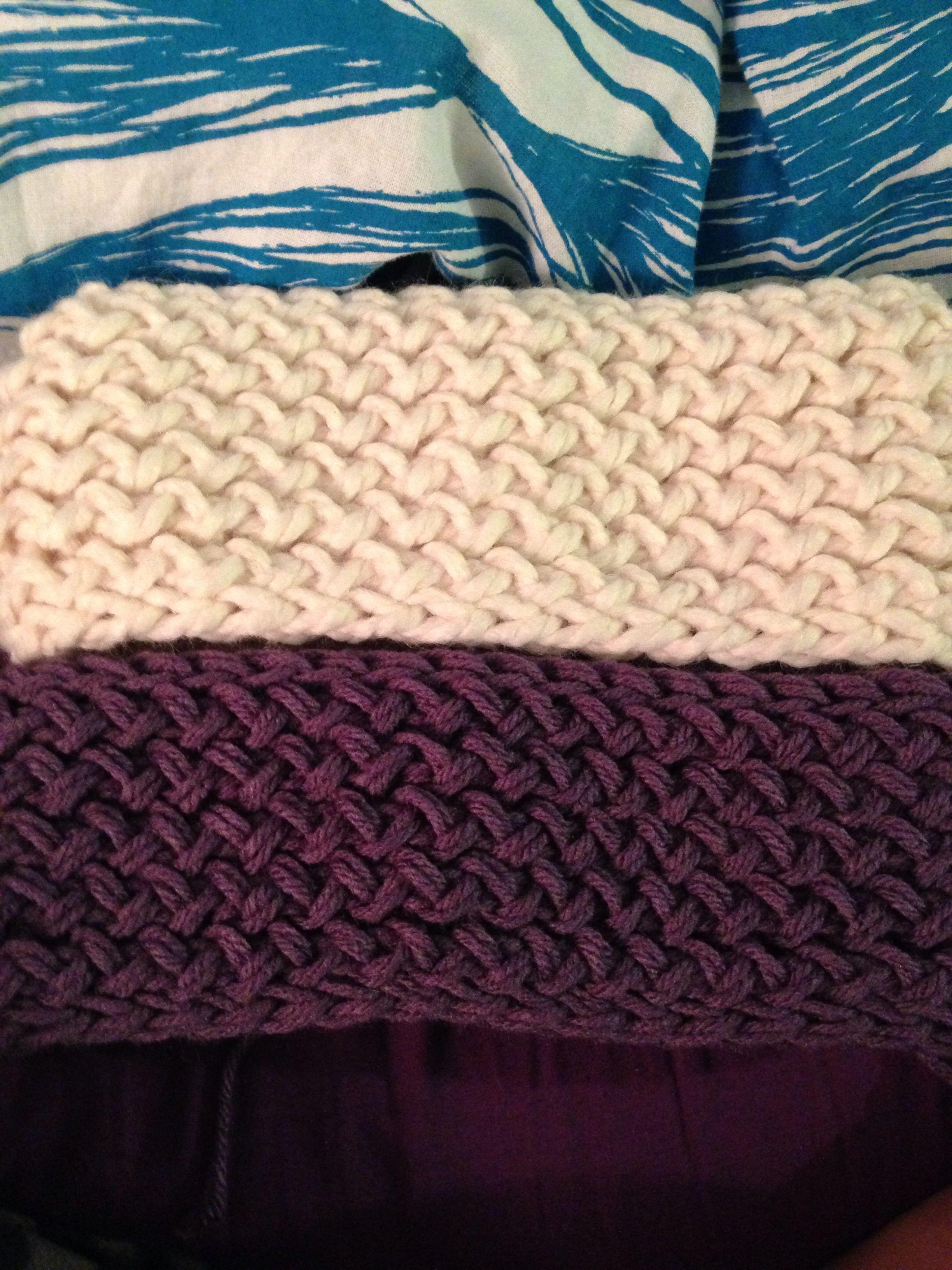 Figure eight stitch earwarmers on straight loom! | Loom knitting ...