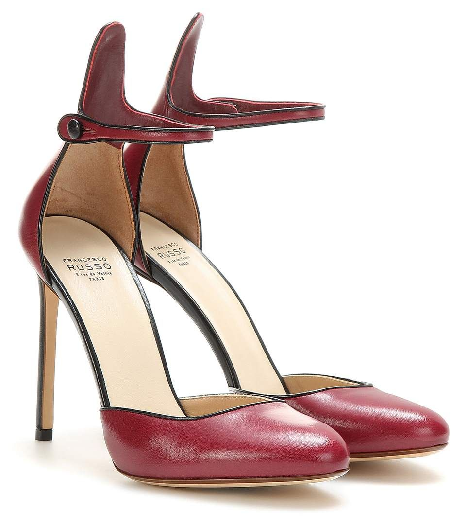 mytheresa.com - Escarpins En Cuir ∇ Francesco Russo ♦ mytheresa.com - Luxe et Mode pour femme - Vêtements, chaussures et sacs de créateurs internationaux