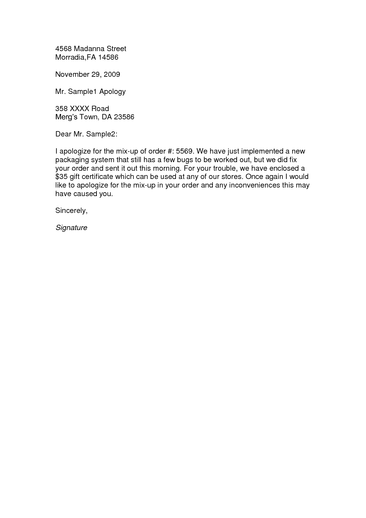 apology letter samples jianbochen sample template character
