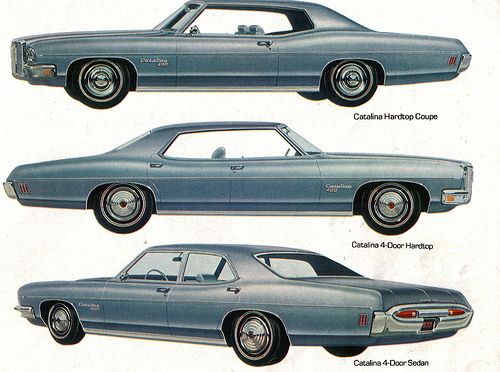 1970 Pontiac Catalina 2 4 Door Hardtop And Sedan Pontiac Catalina Pontiac Pontiac Cars