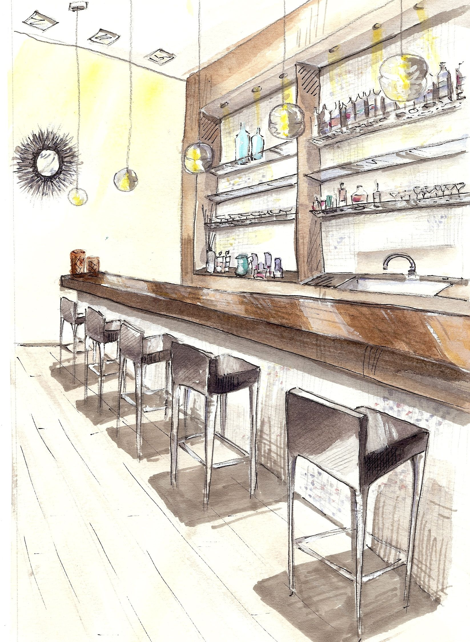Bar render drawing practice pinterest sketches