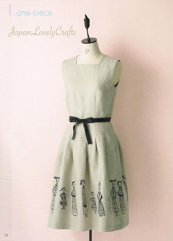 Japanese Style Formal One Piece Dress, Japanese Sewing Pattern Book ...