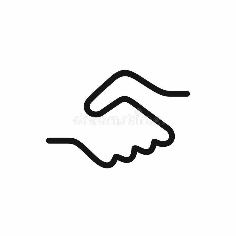 Handshake Icon Vector Illustration Handshake Icon A Symbol Of A Signed Contrac Sponsored Illustration Symbol Typo Logo Design Hand Logo Word Mark Logo