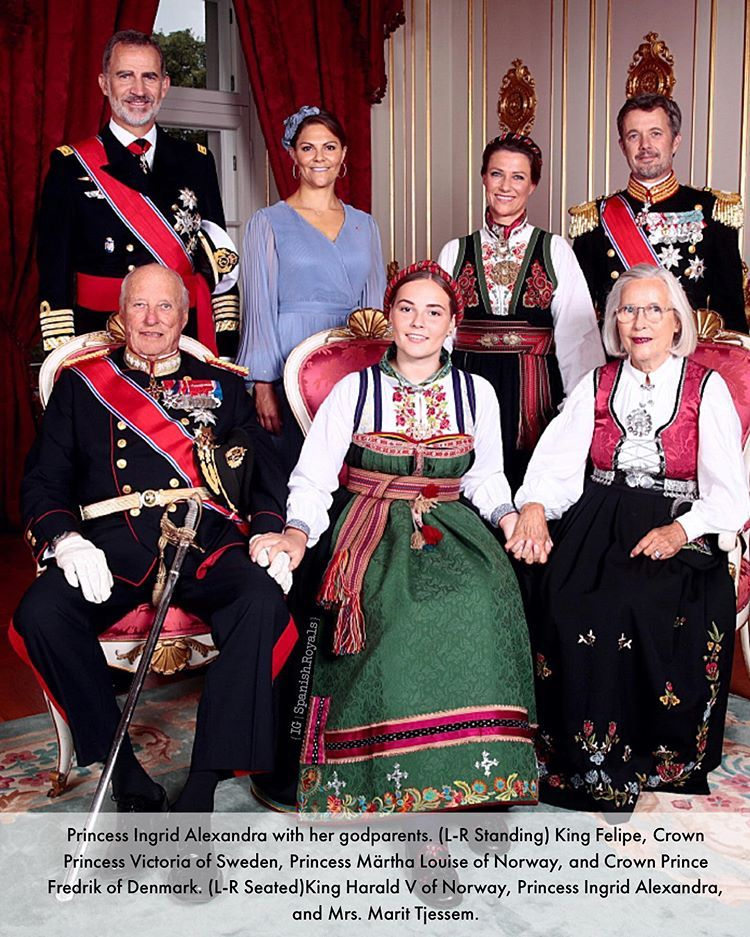 31 august 2019 princess ingrid of norway with her