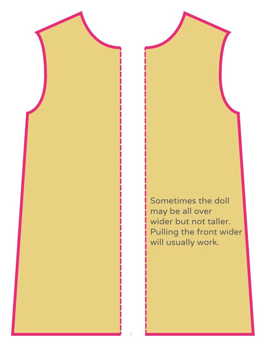 how to make a dress pattern bigger