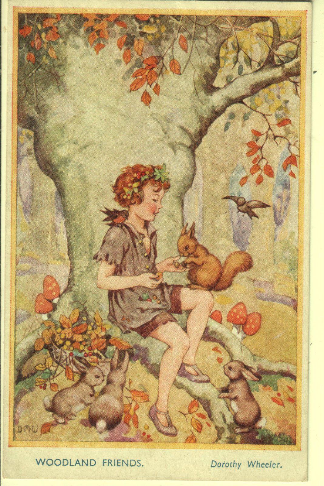 Dorothy Wheeler Postcard Gnomes Brownies Fairies