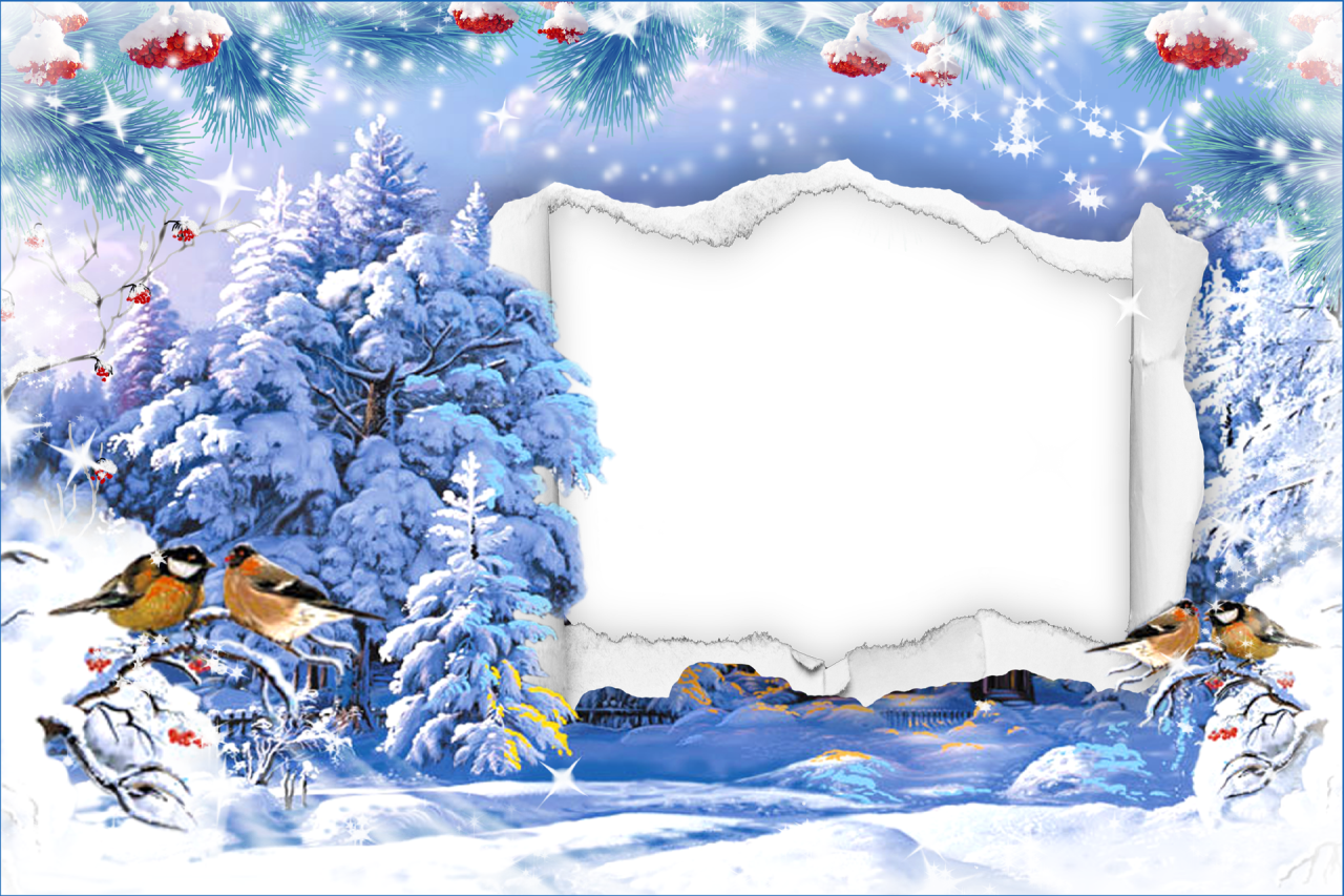 Winter Photo Frame Snow Covered Landscape Png 1280 853 Winter Photo Frame Christmas Prints Christmas Labels