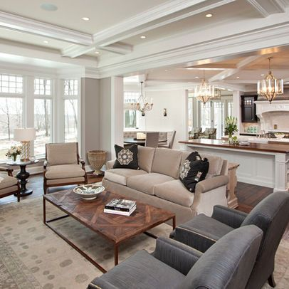 Hamptons Style Design Ideas Pictures Remodel And Decor  Page Fair Interior Design Open Concept Living Room Decorating Inspiration