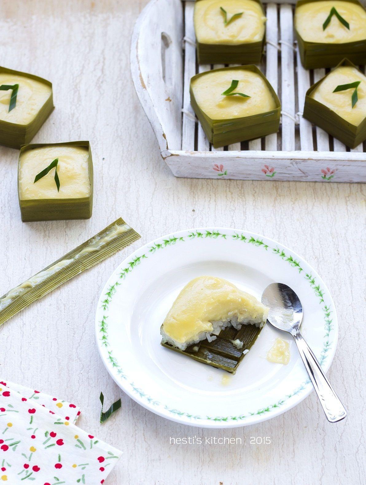 Hesti S Kitchen Yummy For Your Tummy Ketan Duren Lumer Makanan Penutup Resep Masakan Indonesia Makanan Dan Minuman
