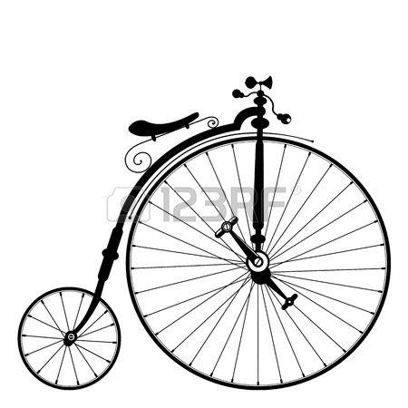 Plantilla De Bicicleta Antigua Con Espacio Para Su Mensaje Bicicletas Antiguas Tatuajes Bicicletas Bicicletas