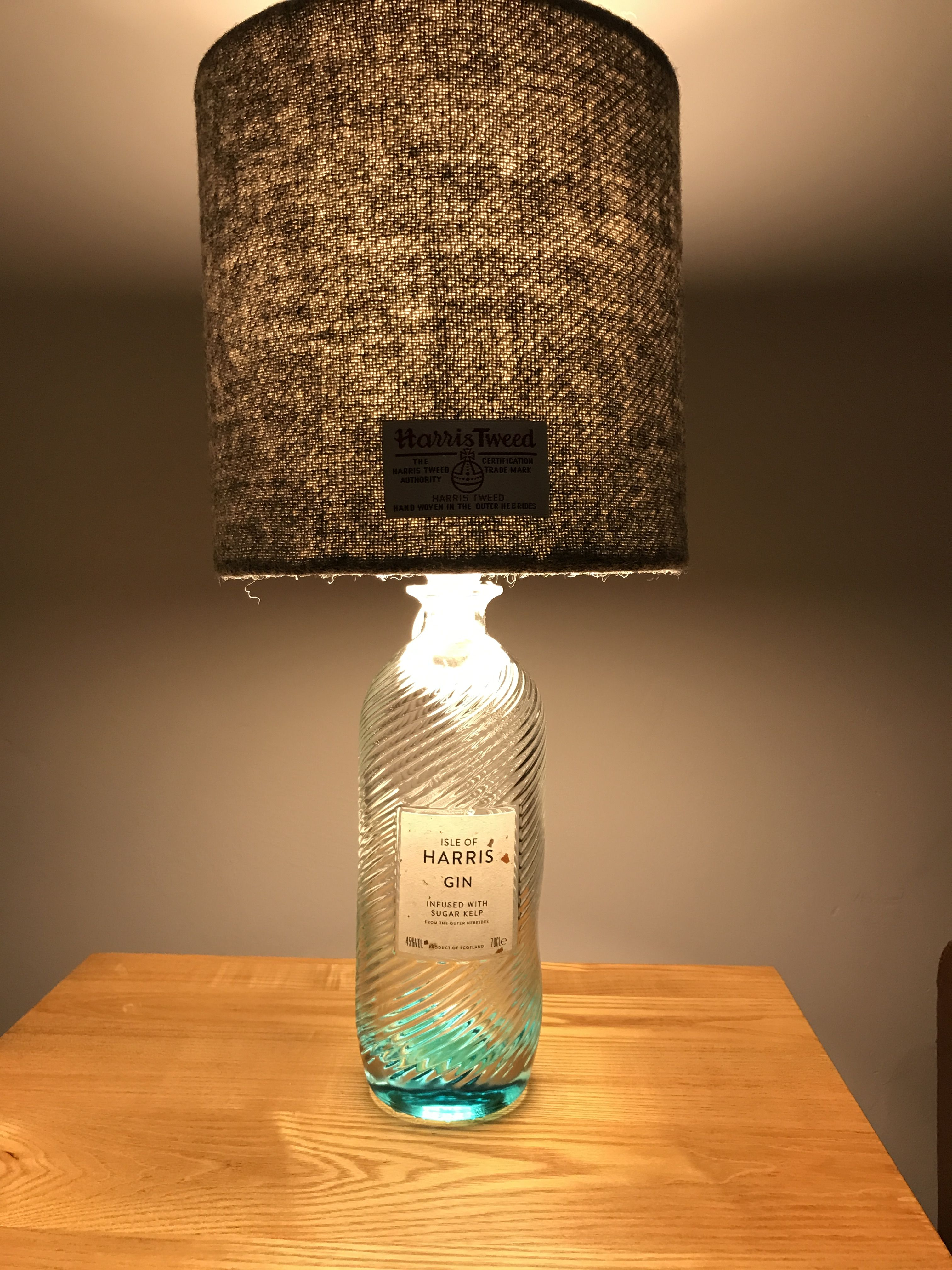 Glass Jar Lamp Shade Harris Gin Bottle With Harris Tweed Lamp Shade Home Jar Lamp