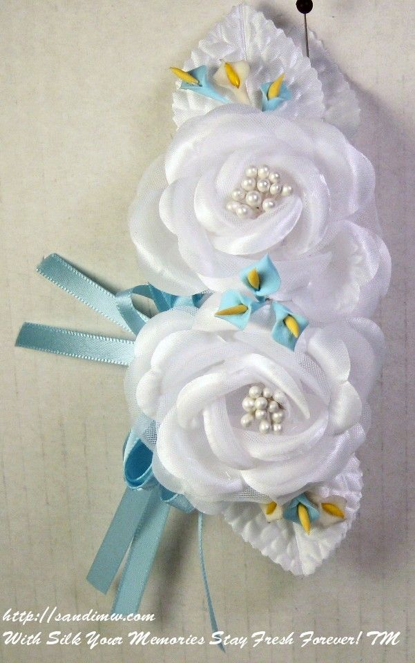 Silk Wrist Corsages For The Baby Shower Baby Shower Wrist