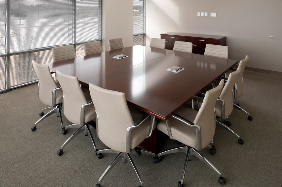 Hays County Government Center (Austin, TX) Waveworks conference tables.#NationalOffice #FurnitureWithPersonality