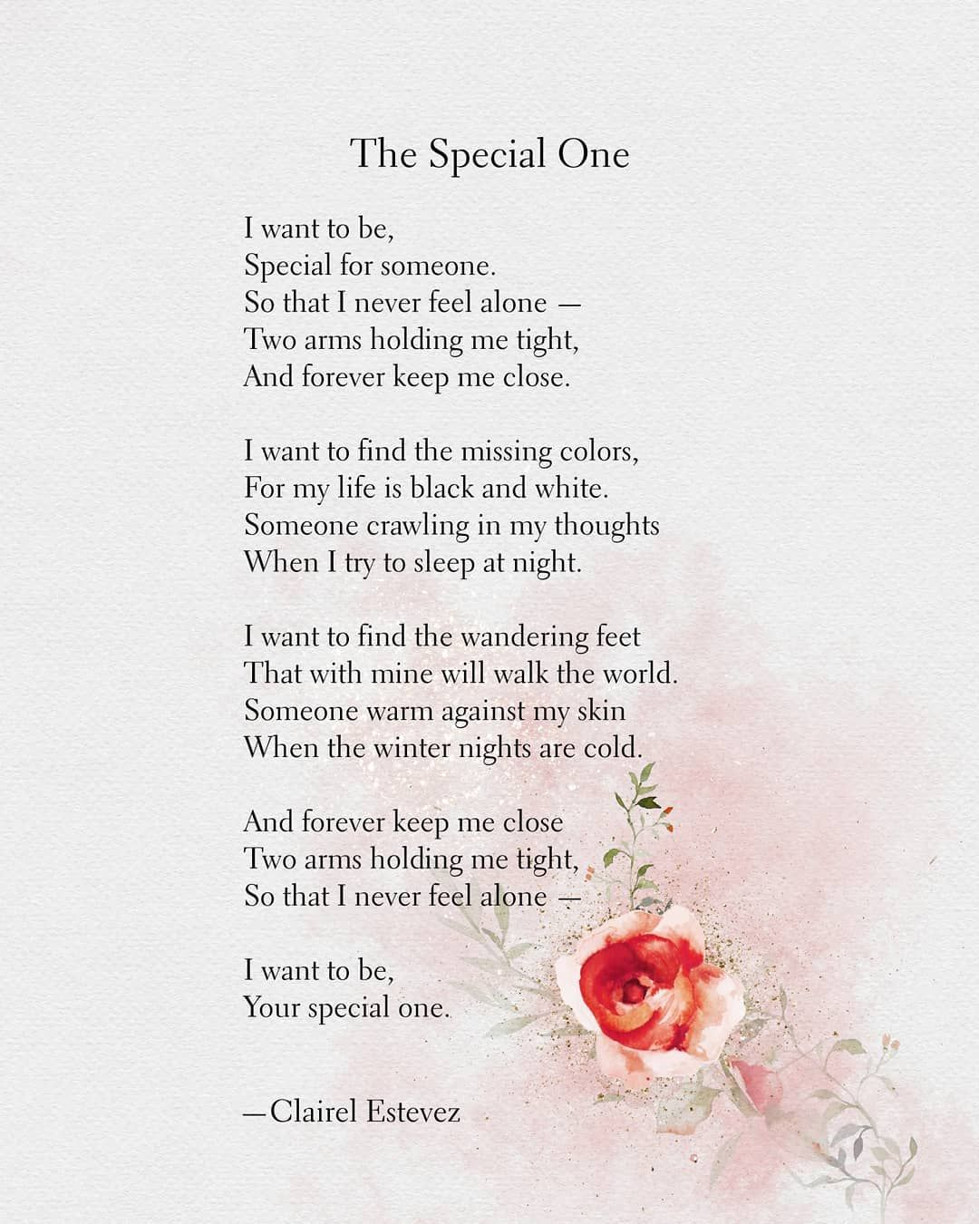 your special to me poems
