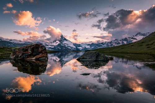Reflection By Pm Photography Sky Lake Sunset Switzerland Water Reflection Travel Blue Light Clouds Snow Mountain Alps Z Sky Lake Sky Photography Travel Photos