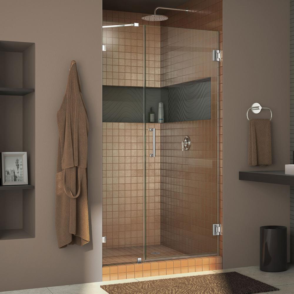 Dreamline Unidoor Lux 42 In X 72 In Frameless Hinged Shower Door