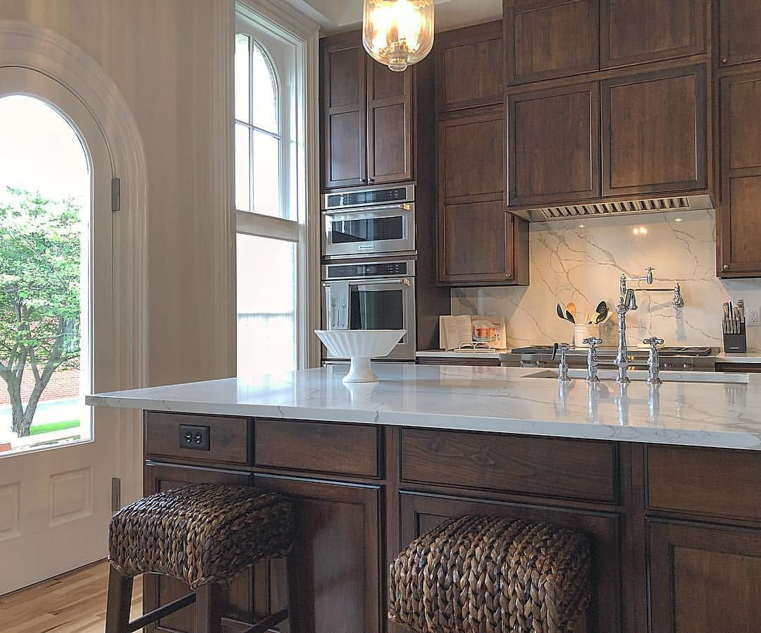 Our kitchen with maple cabinets and white quartz counter ... on Natural Maple Cabinets With Quartz Countertops  id=98285
