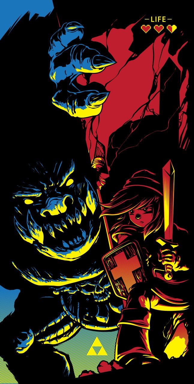 """- Inspired by Final Fight with Ganon - Screen Print - Limited Edition of 100 - Approximately 12"""" x 24"""" - Signed and Numbered"""