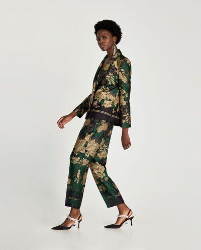 Zdjecie 5 Spodnie Z Nadrukiem W Kwiaty Z Zara Moda
