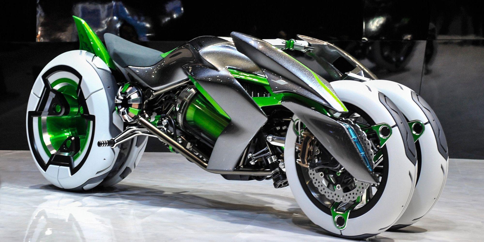 LOOK Kawasaki's New Concept Bike Is Insane Futuristic