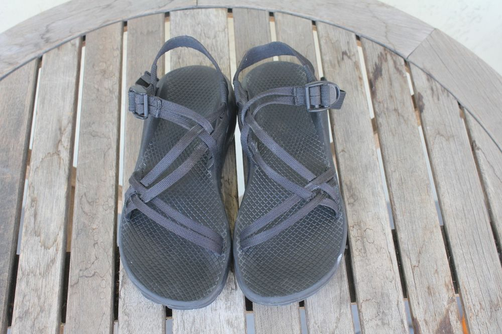 Chaco Women's Black Double Strap No Toe Loop ZX/1 Unaweep Sandal Size 8 Medium #Chaco #SportSandals #WalkingHiking