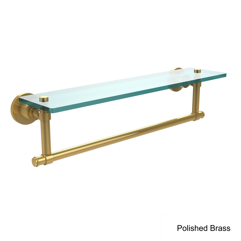 Allied Brass Washington Square Collection 22-inch Glass Vanity Shelf ...