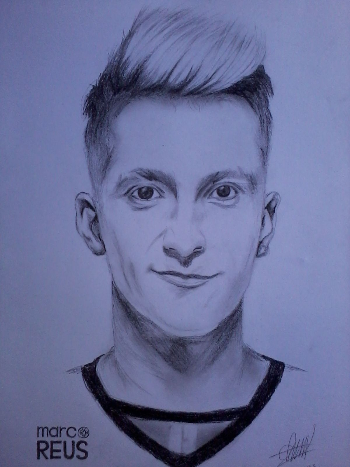 Drawing marco reus borussia dortmund player