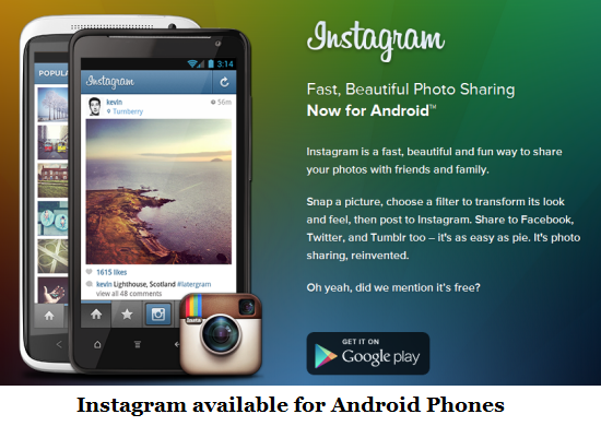 Instagram is now Available for Android Phones ! | Wide Info