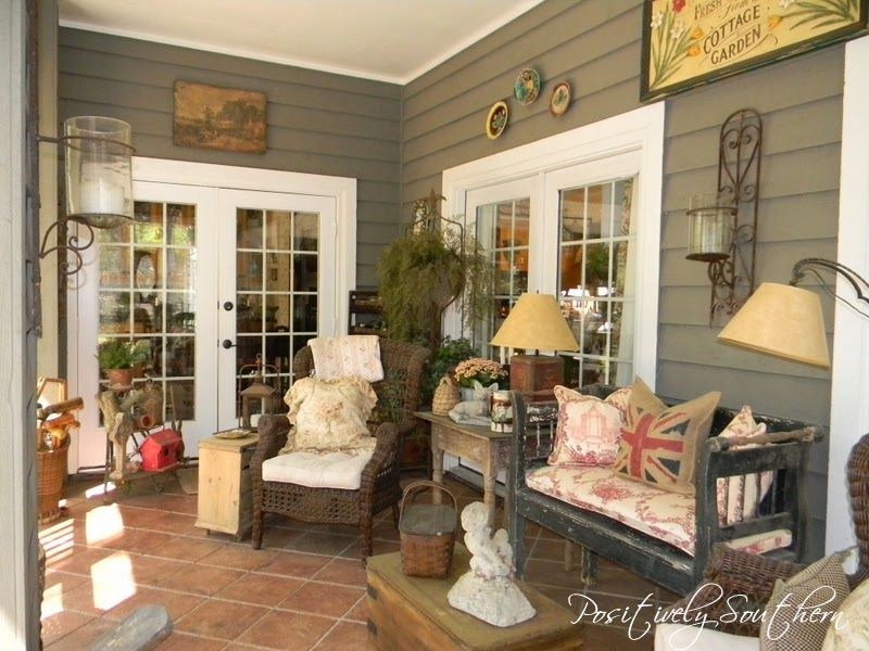 Antiques On A Screened Porch Porch Southern And Savvy
