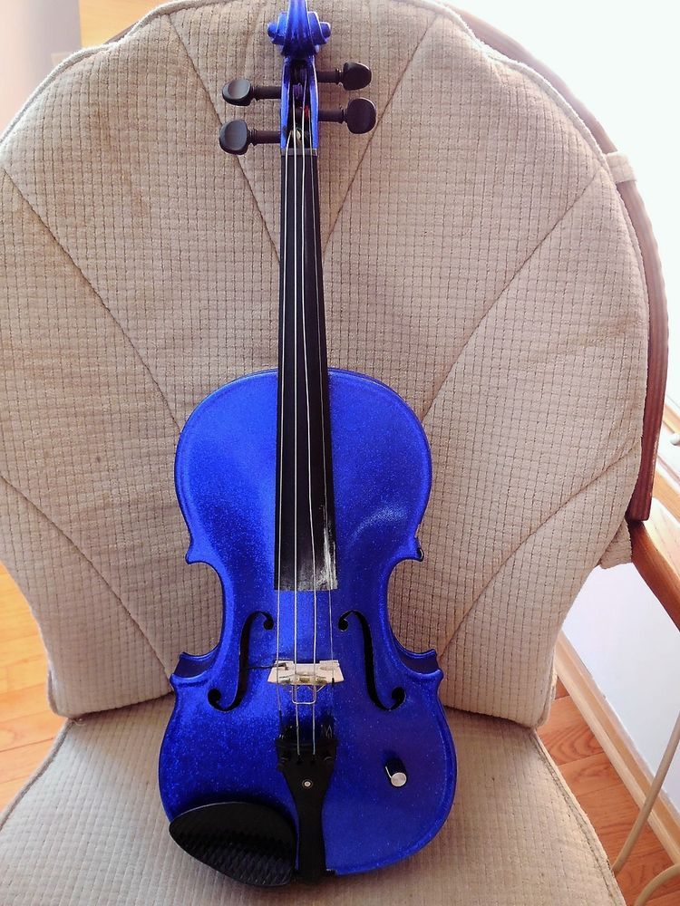 Vintage Alvarez Blue Electric Violin by Knilling String