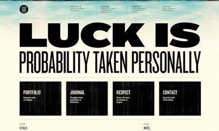 25 Well Designed Websites With Big Typography Well Designed Websites Web Design Web Design Trends