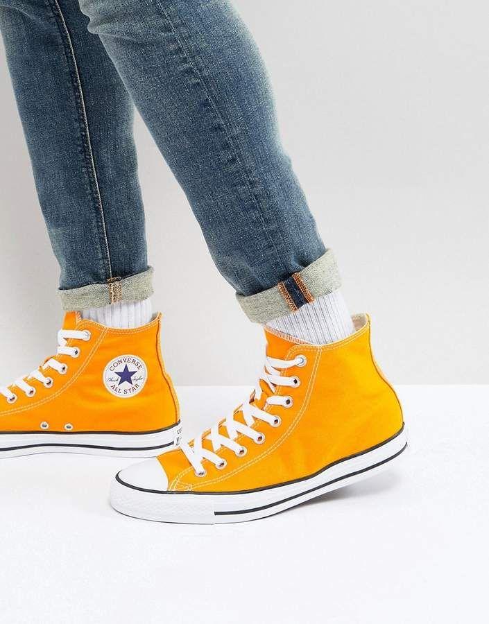 124e54a16439 Converse Chuck Taylor All Star Hi Sneakers In Orange 159674C ...