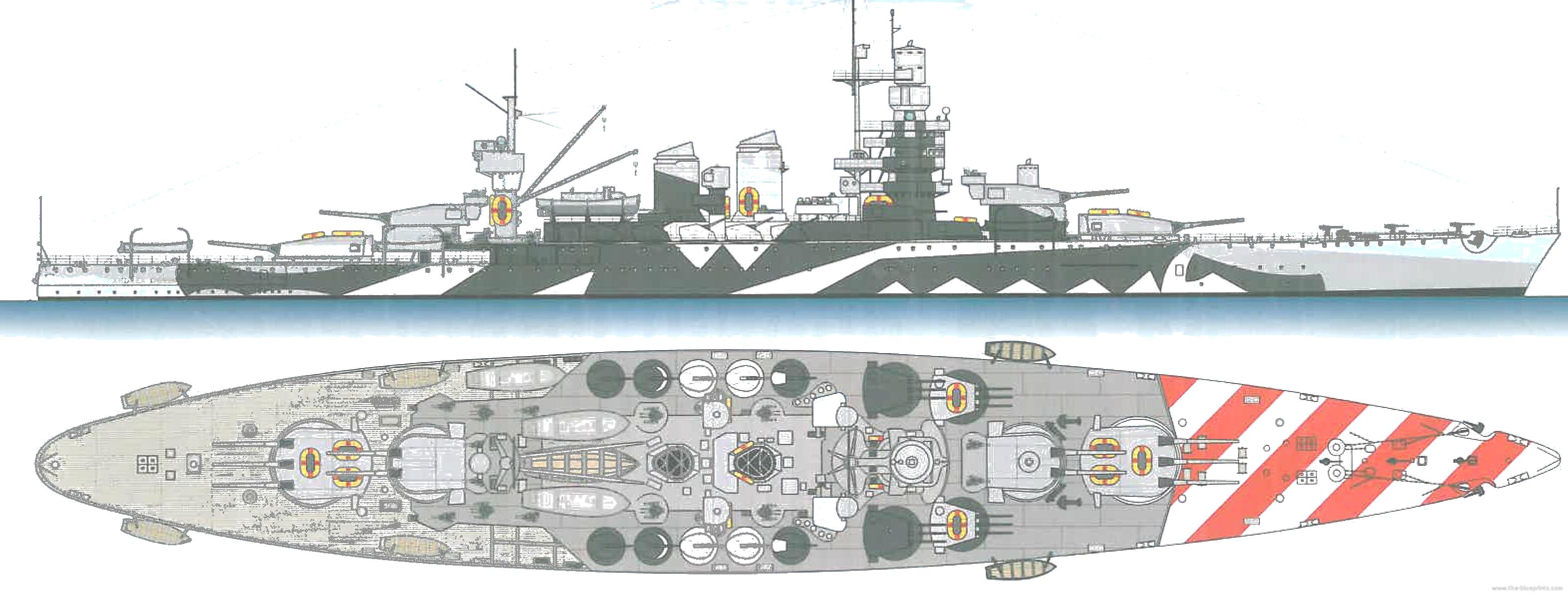 Battleship cutaways recherche google cutaways for Andrea doria nave da guerra
