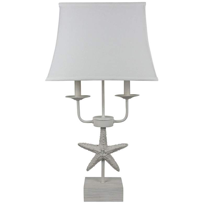 Sea Star Antique White 2 Light Table Lamp 78e12 Lamps Plus Light Table Lamp Living Room Lighting Tips