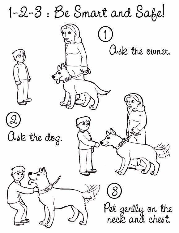 Dog safety colouring pages Dogs for Defense K 9 Pets