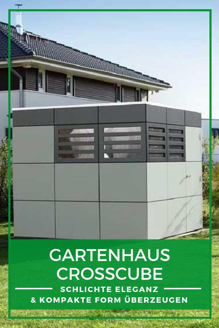 Gartenhaus CrossCube modernes Design, leichte Montage
