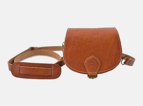 Mini leather satchel bag in unique vintage style by Grafea.