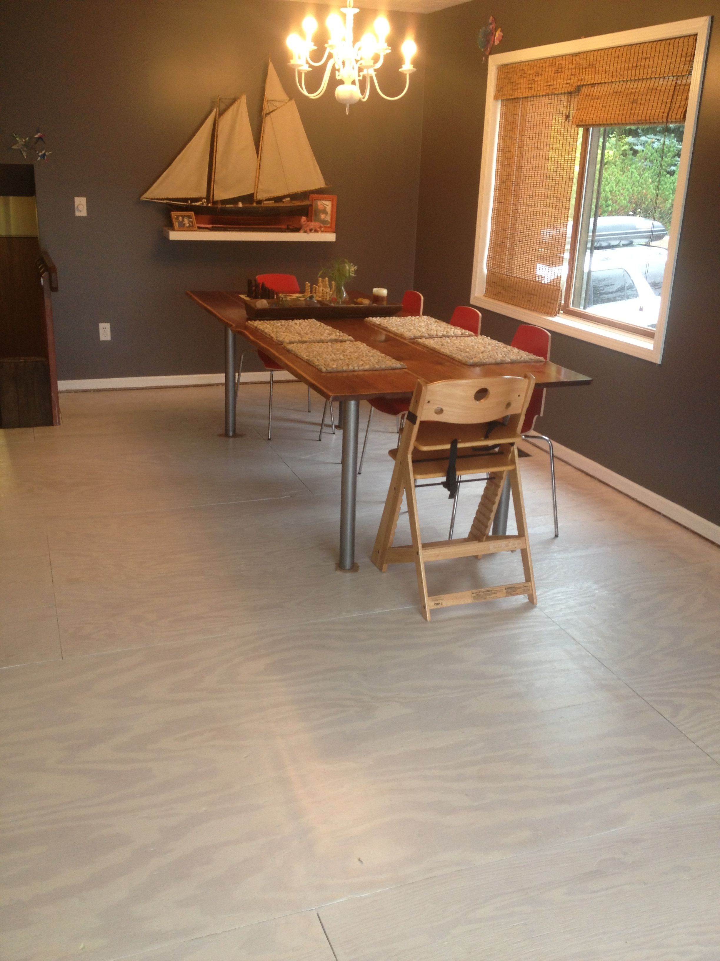 Pin By Todd Mashburn On Katie S House Plywood Flooring Painted Plywood Floors Home Remodeling