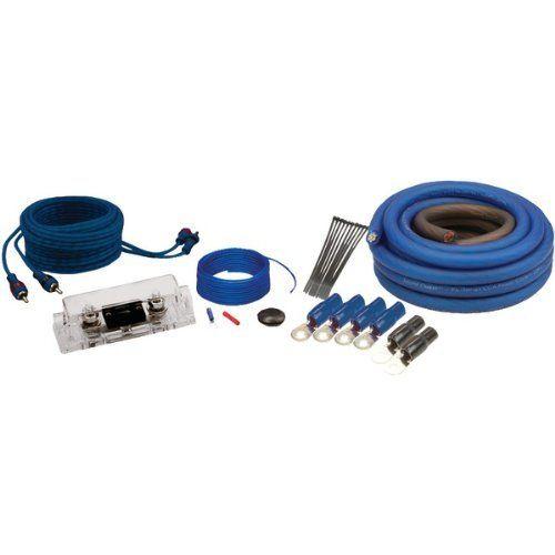 Soundquest Sqk0 1 0 Gauge Copper Clad Aluminum Wiring Kit By Soundquest 37 34 1 0 Gauge Wiring Kit 17 Ft Translucent Red Power Wire Speaker Wire Car Audio