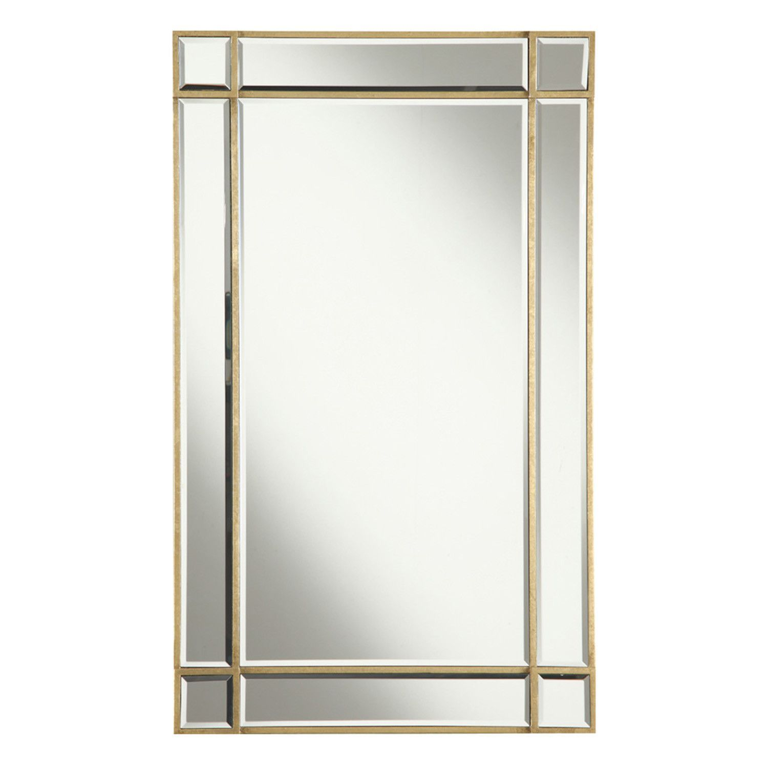 "Elegant Lighting - Rectangular Mirror 22"" x 0.75"" x 36""H, Gold/Clear mirror. The Florentine Collection is offered in your choice of aged mirror finish or clear. Dove-tailed drawers and hardwood construction are hidden details inside the beauty of the mirrored finish and gold leaf or silver leaf accents.Color:gold/clear mirrorDimensions:22""L x 0.75""W x 36""H"