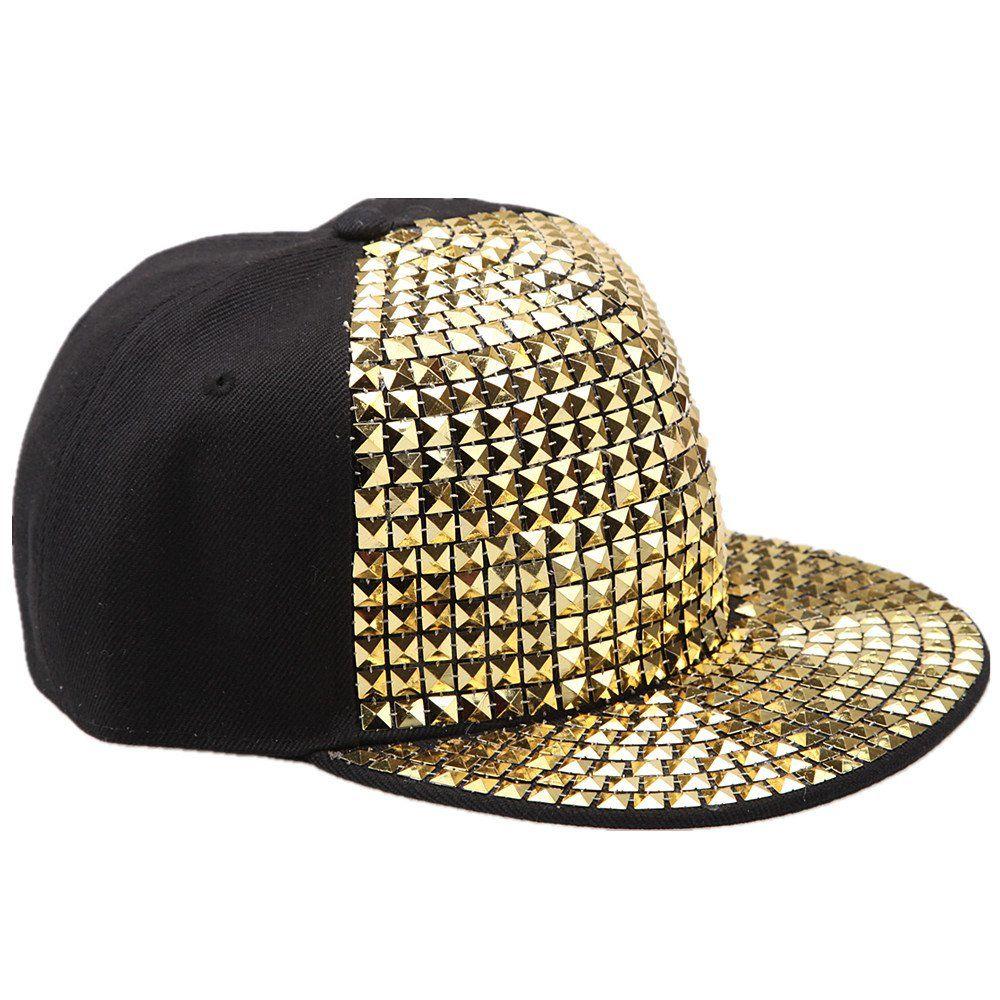 d8a106506ff8 Baseball cap Hip Hop Cap Unisex Punk Moderene Design mit Strass Herren  Damen Mützen Trend in versch. Style  Amazon.de  Bekleidung