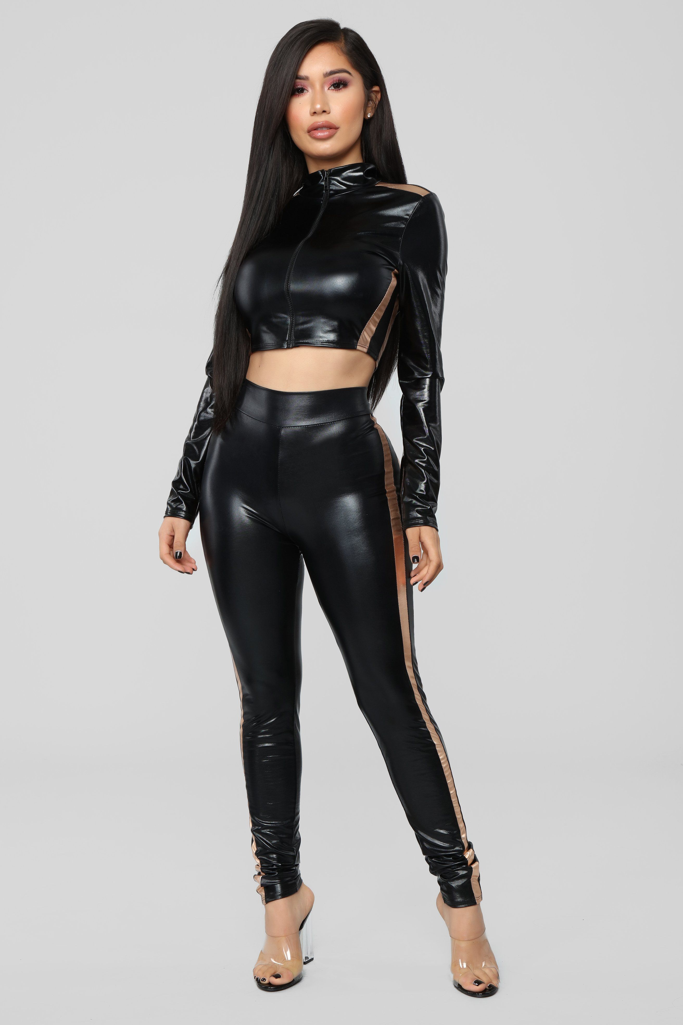 702eb6f64a328 Voodoo Patent Leggings - Black in 2019   miscellaneous   Leather ...