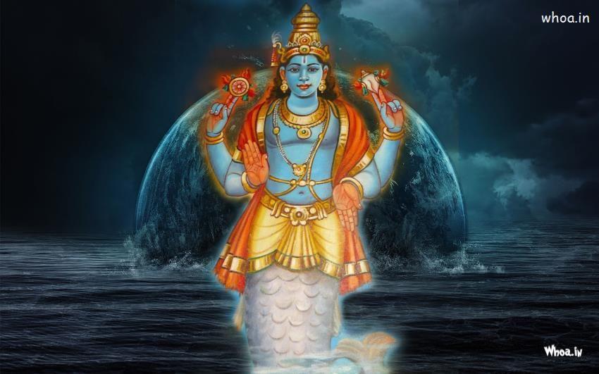 Lord Vishnu Matsya Avatar Hd Wallpaper Lord Vishnu Vishnu Lord Vishnu Wallpapers