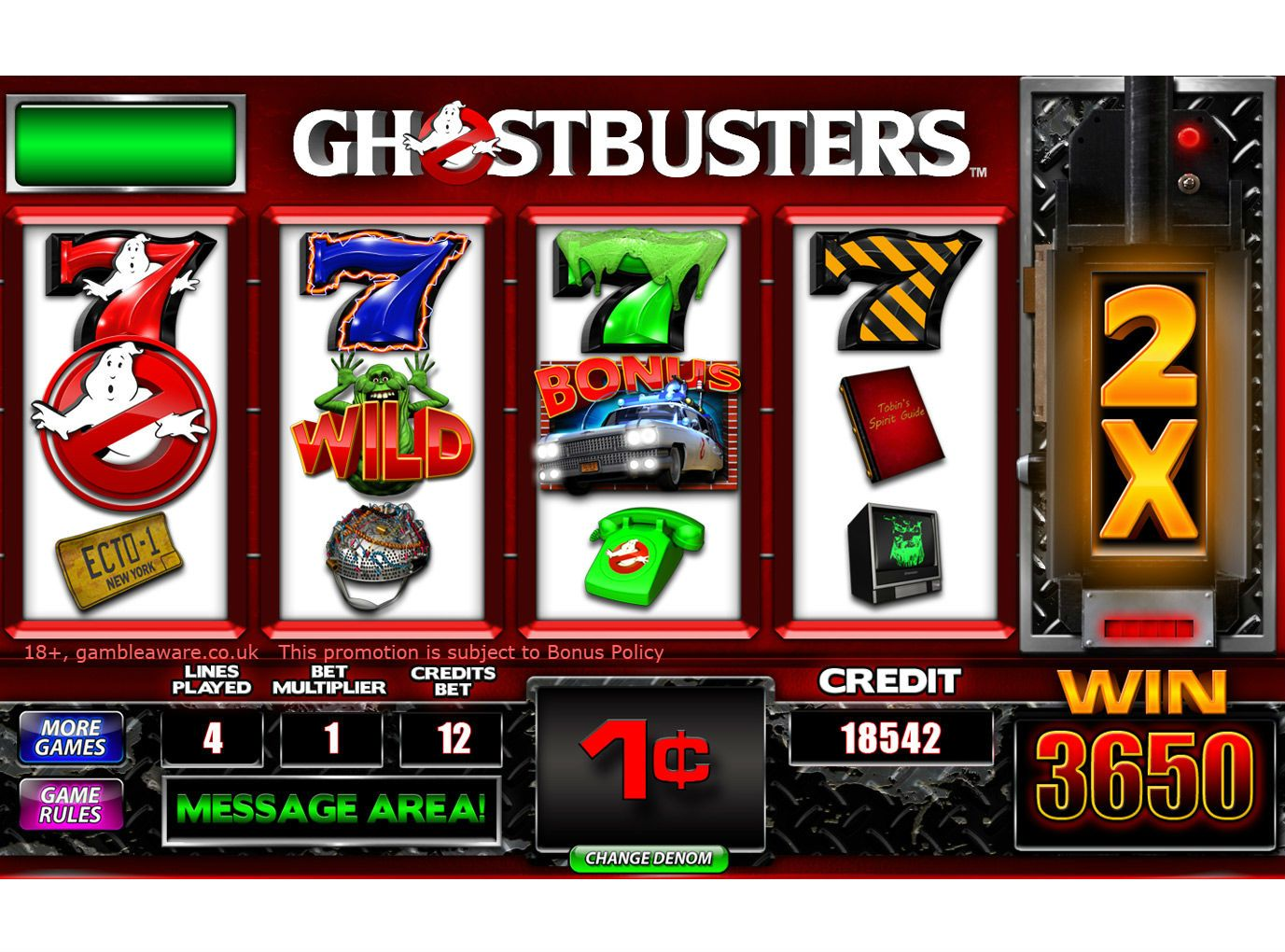 Ghostbusters Slot Machine Online Free